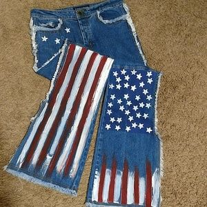 Vintage Marcello Soltan Patriotic flare Jeans